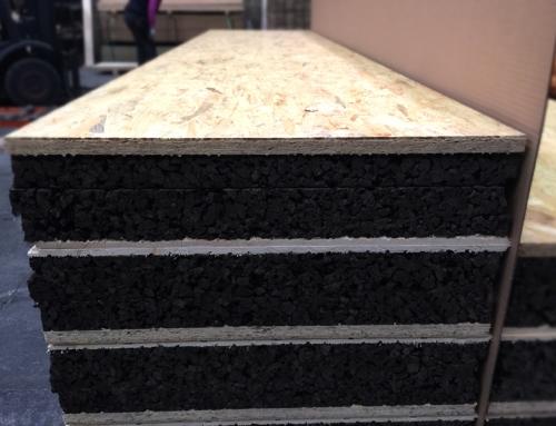 Panel de núcleo de corcho adecuado para Bioconstrucción